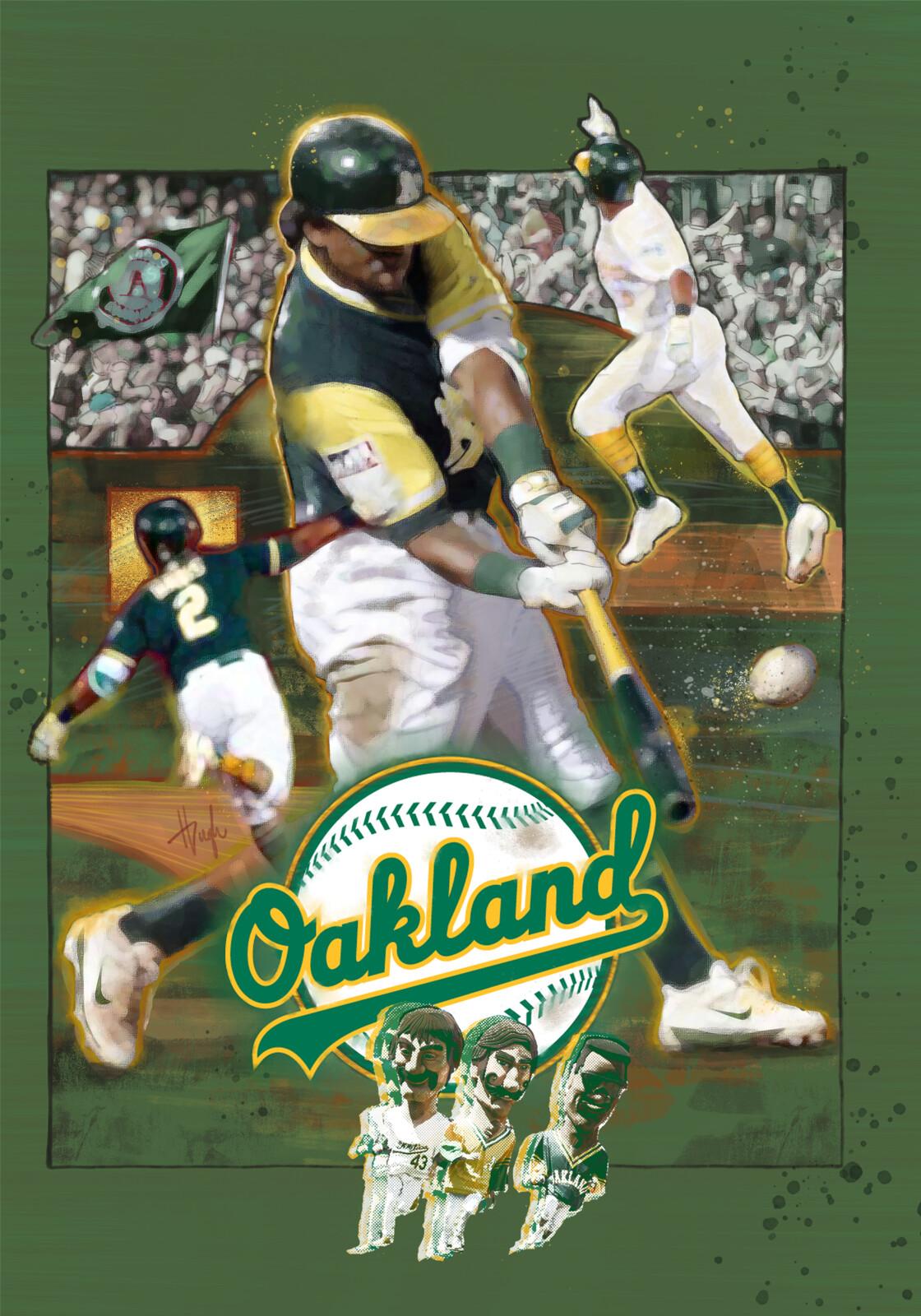 Oakland A's Fan Art Poster