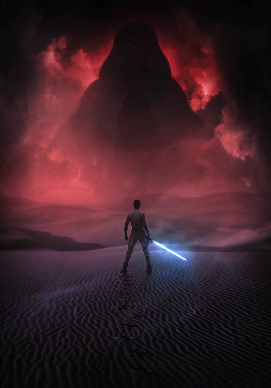 Artstation Star Wars The Rise Of Skywalker Rey Vs Palpatine Mizuri Au