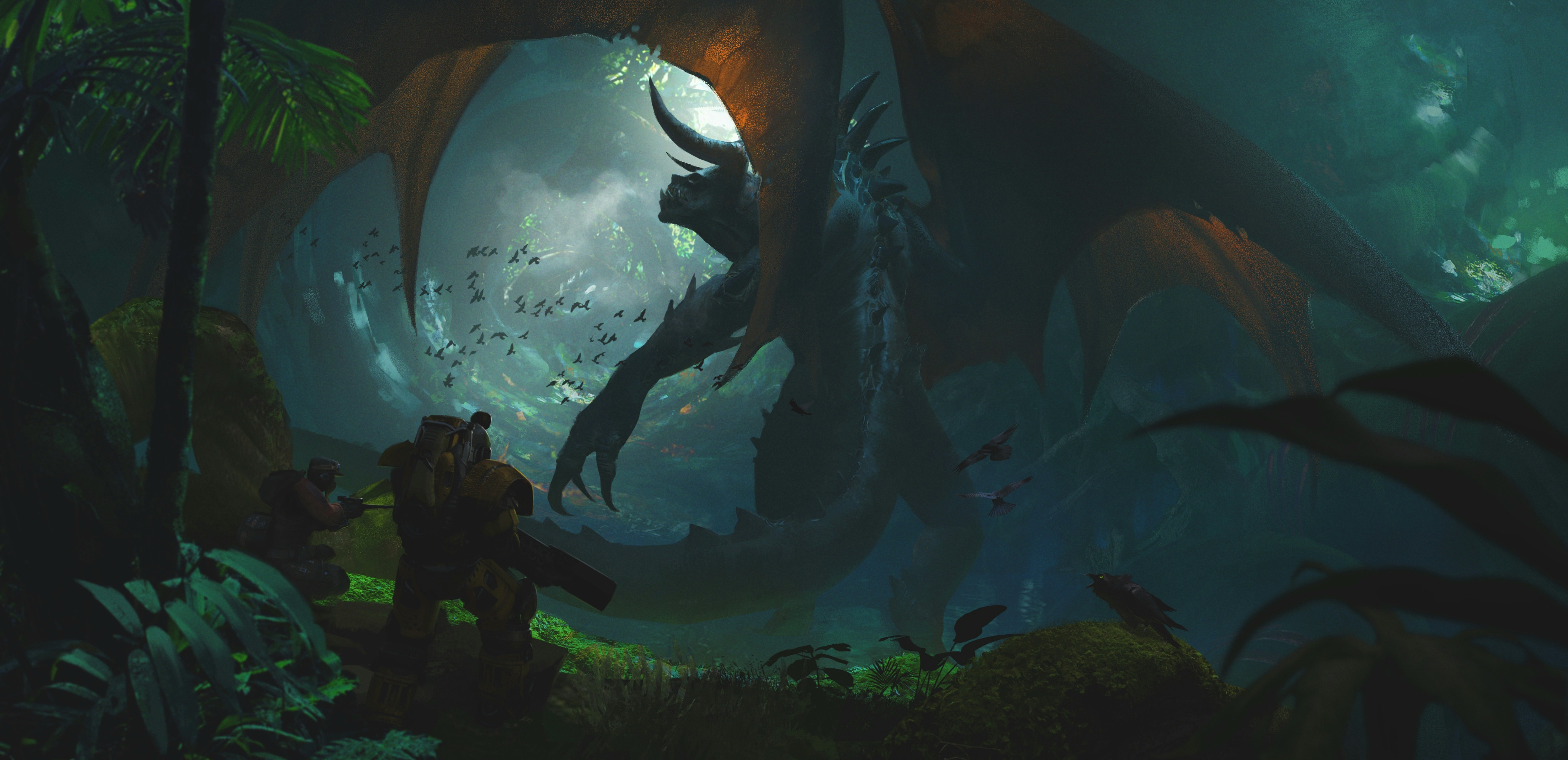 A giant deathclaw mutated with wings.