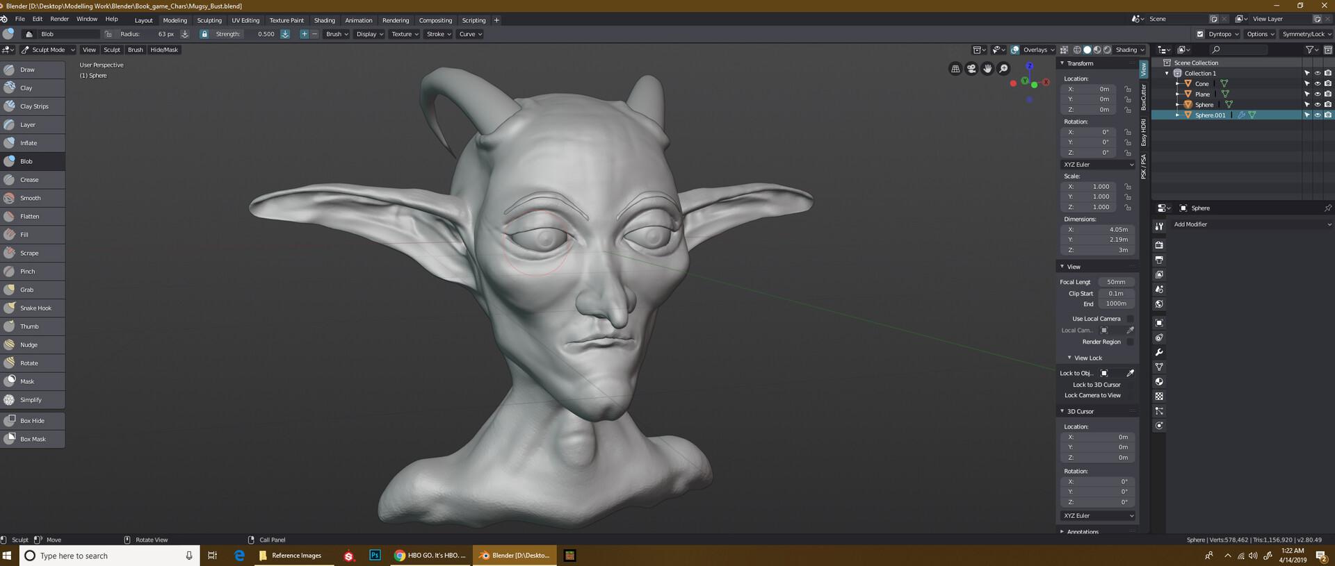 ArtStation - Sculpting _Practice, Chris Johnson
