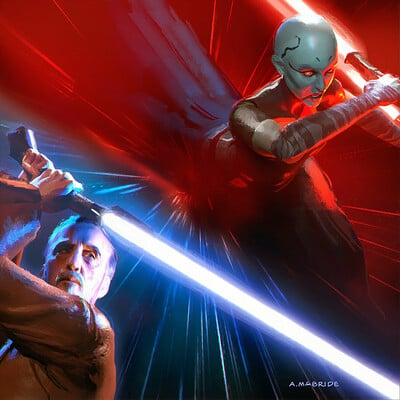 Aaron mcbride dooku jedi lost final cover art amcb