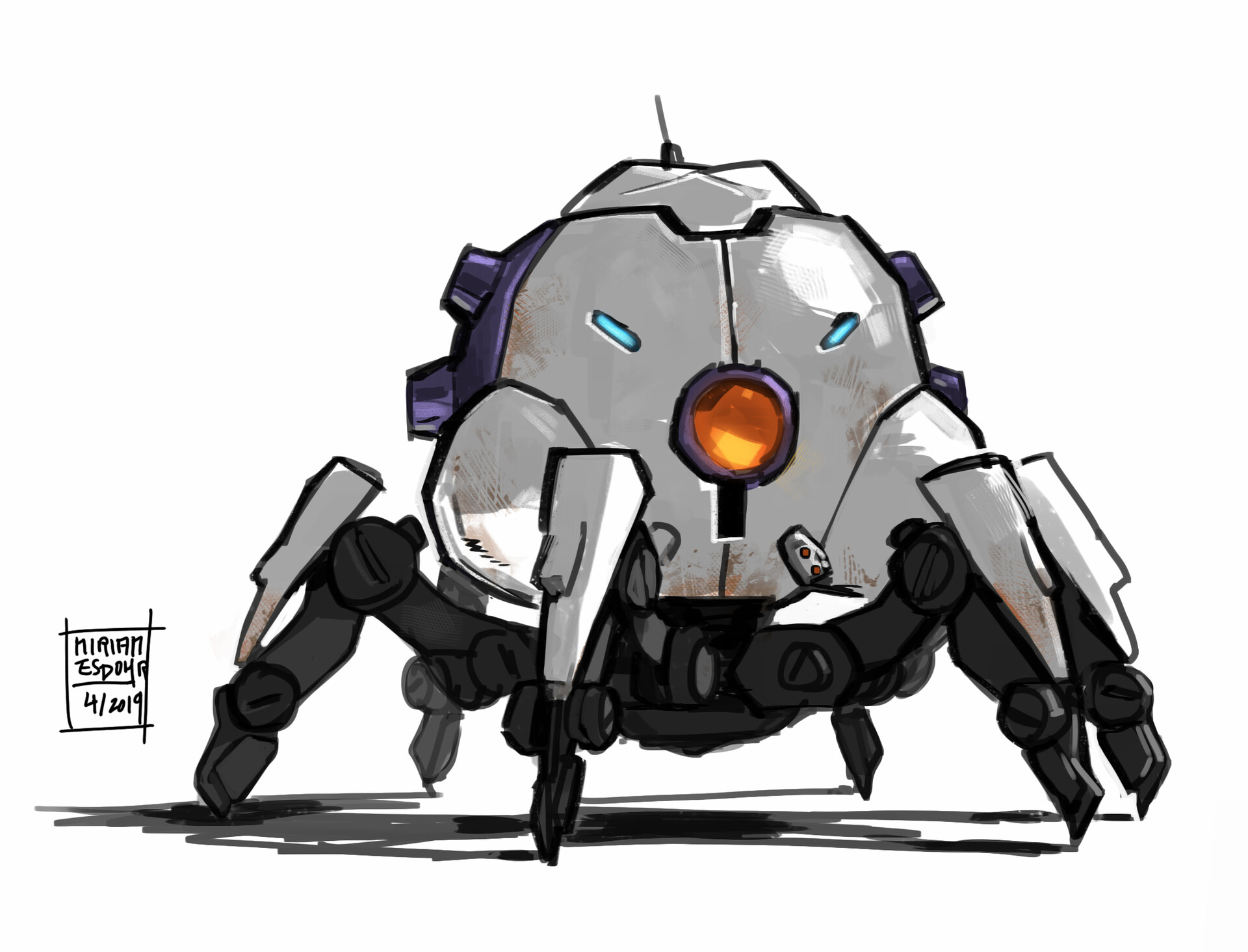 Smolbot done in Photoshop