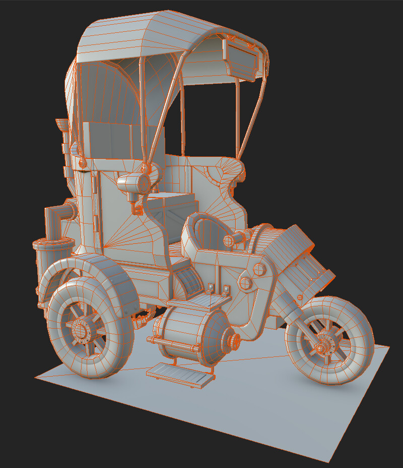 Low poly Substance Painter Mesh map