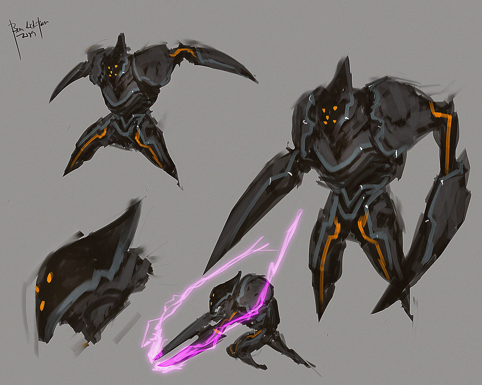 heavy alien soldier unit - his main weapon: spear-like arms that can project energy plasma.