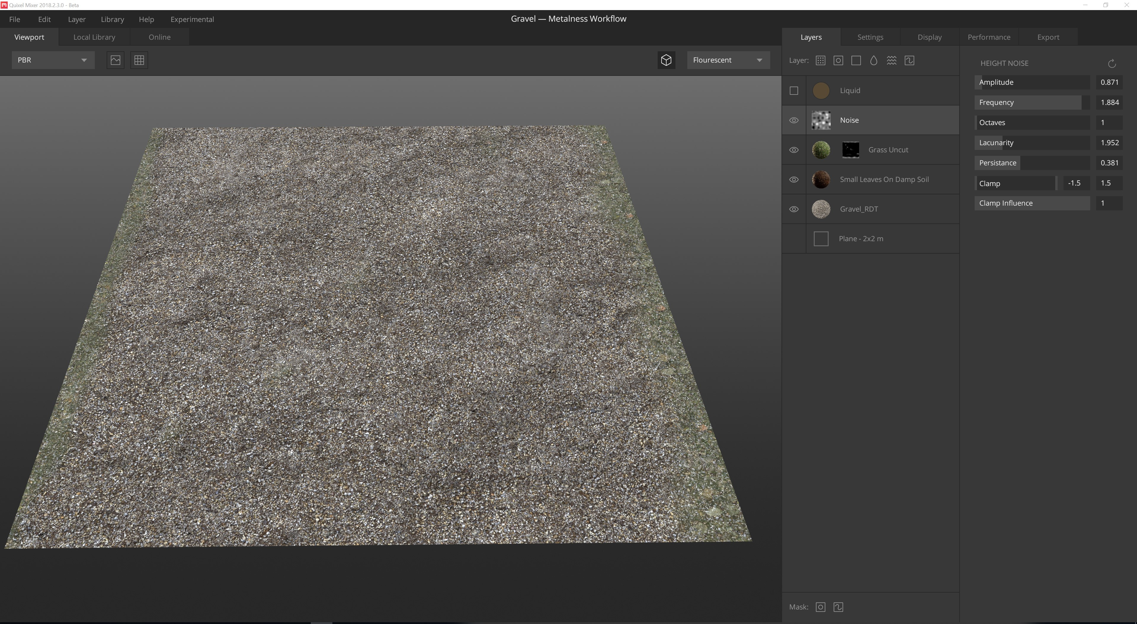 Using Quixel Mixer for my base layer for the Gravel.