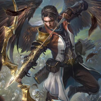 Fantasy Art Winged Bow