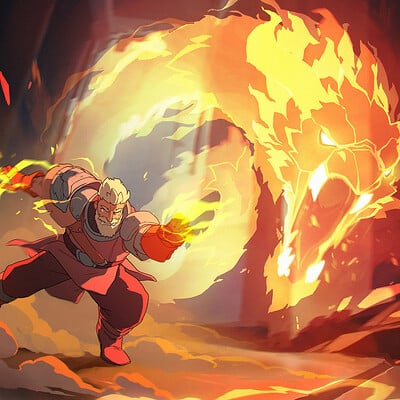 Bossmode games war of magic spell art 01 the dragon of fire extended v2