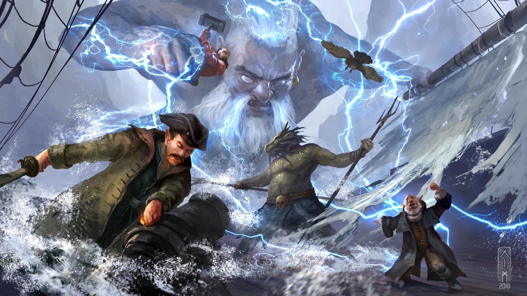 ArtStation - Storm King's thunder Campaign, Kim Van Deun