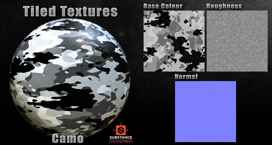 Substance Designer - Composite Camo Material
