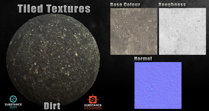B2M Substance Material - Dirt