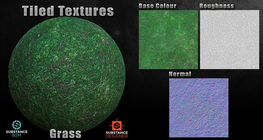 B2M Substance Material - Grass