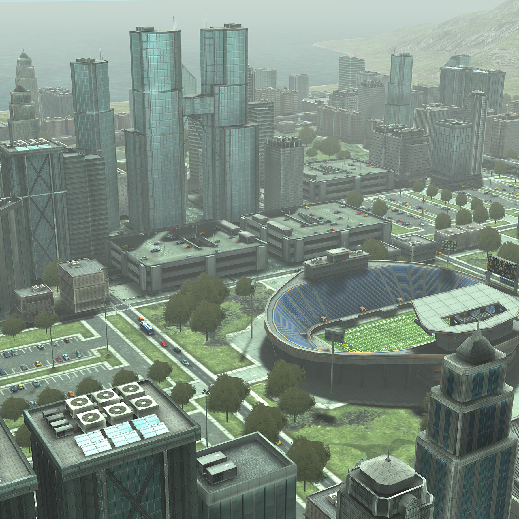 Downtown variant with arena.