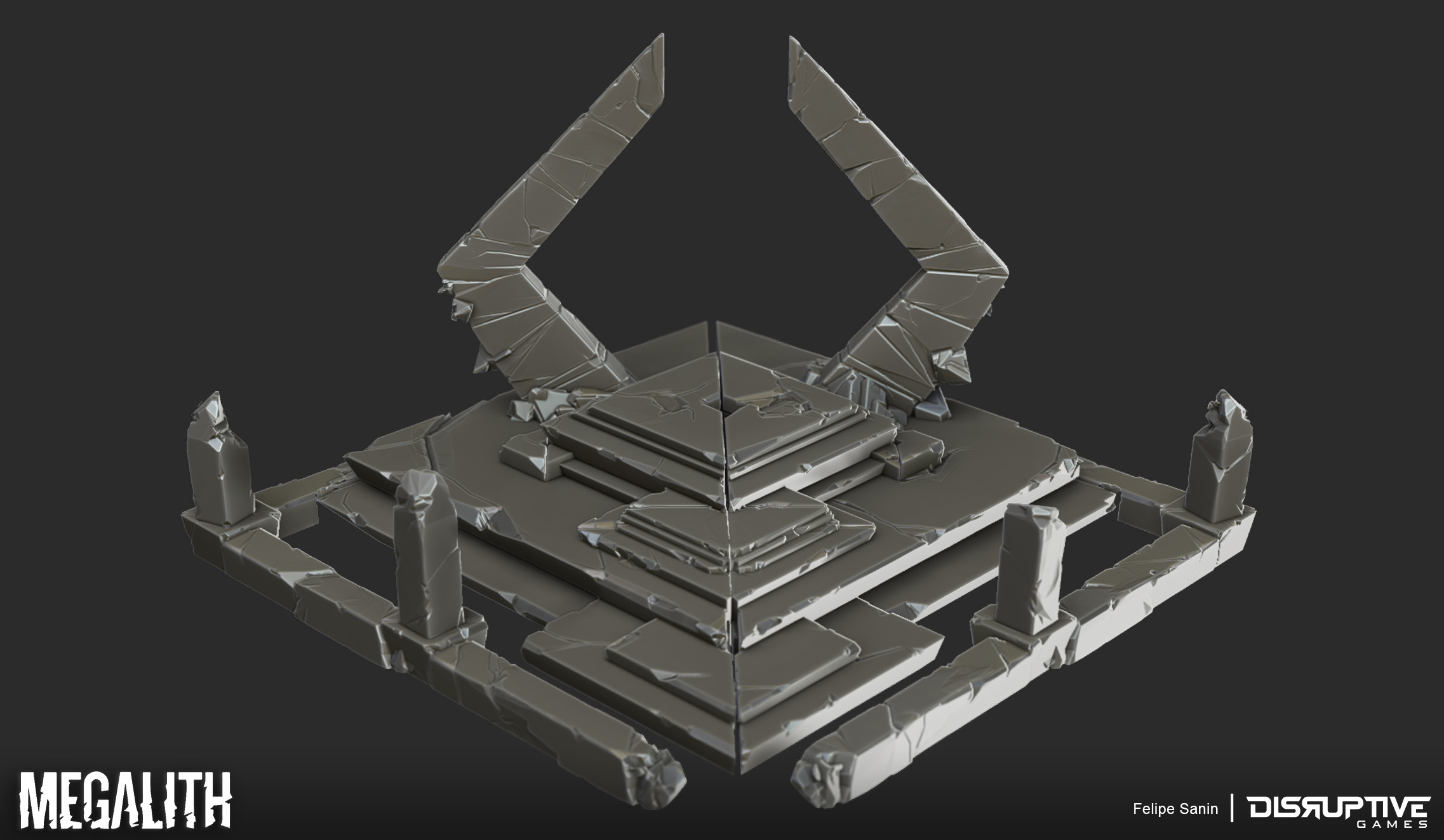Siege Shrine - High Res Sculpt