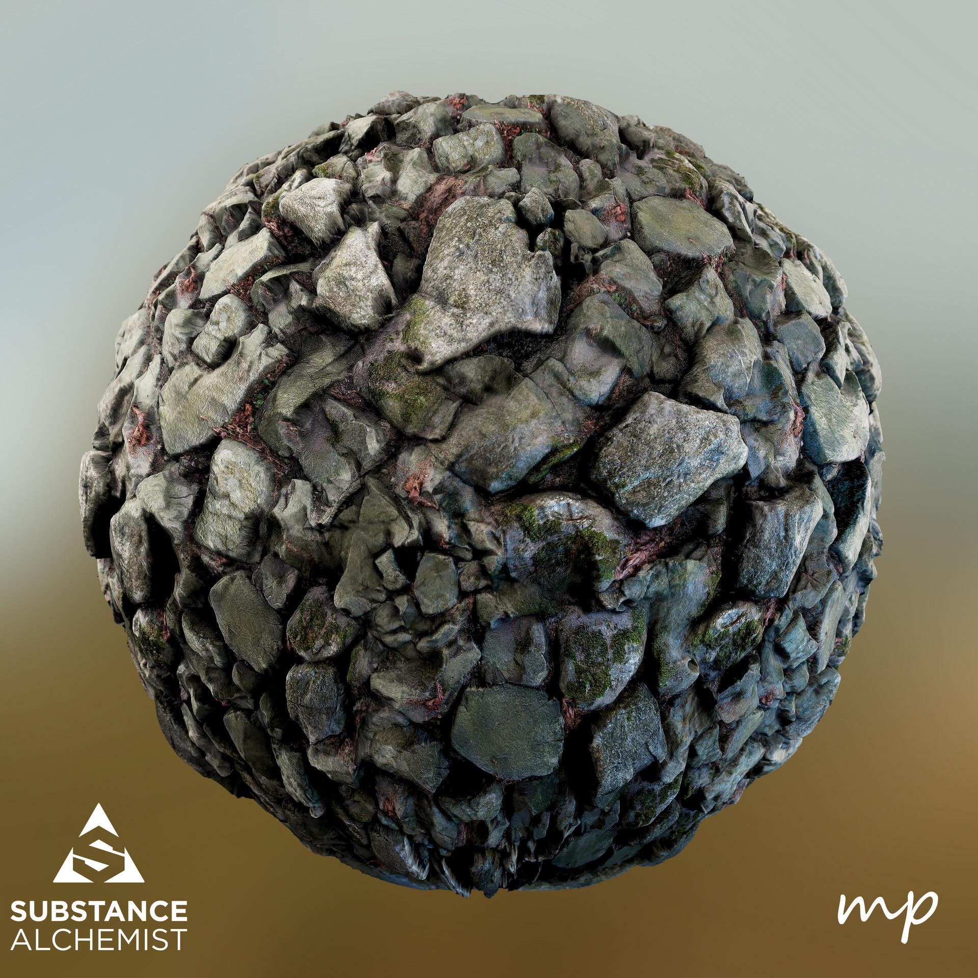 Martin pietras photogrammetry rocks sphere 01