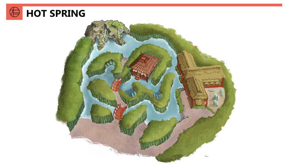 Map of the hot spring area