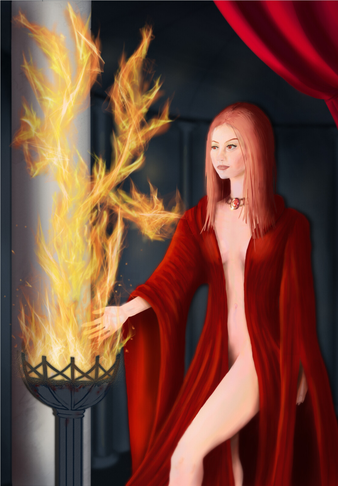 The Heart of Fire priestess