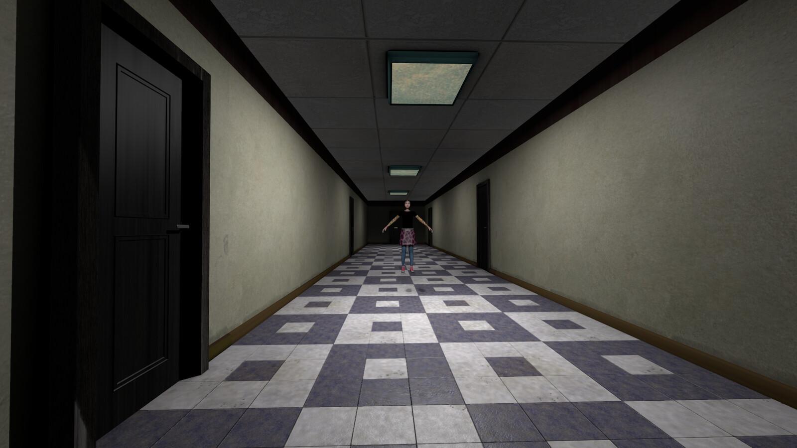 Office hallway under new management.