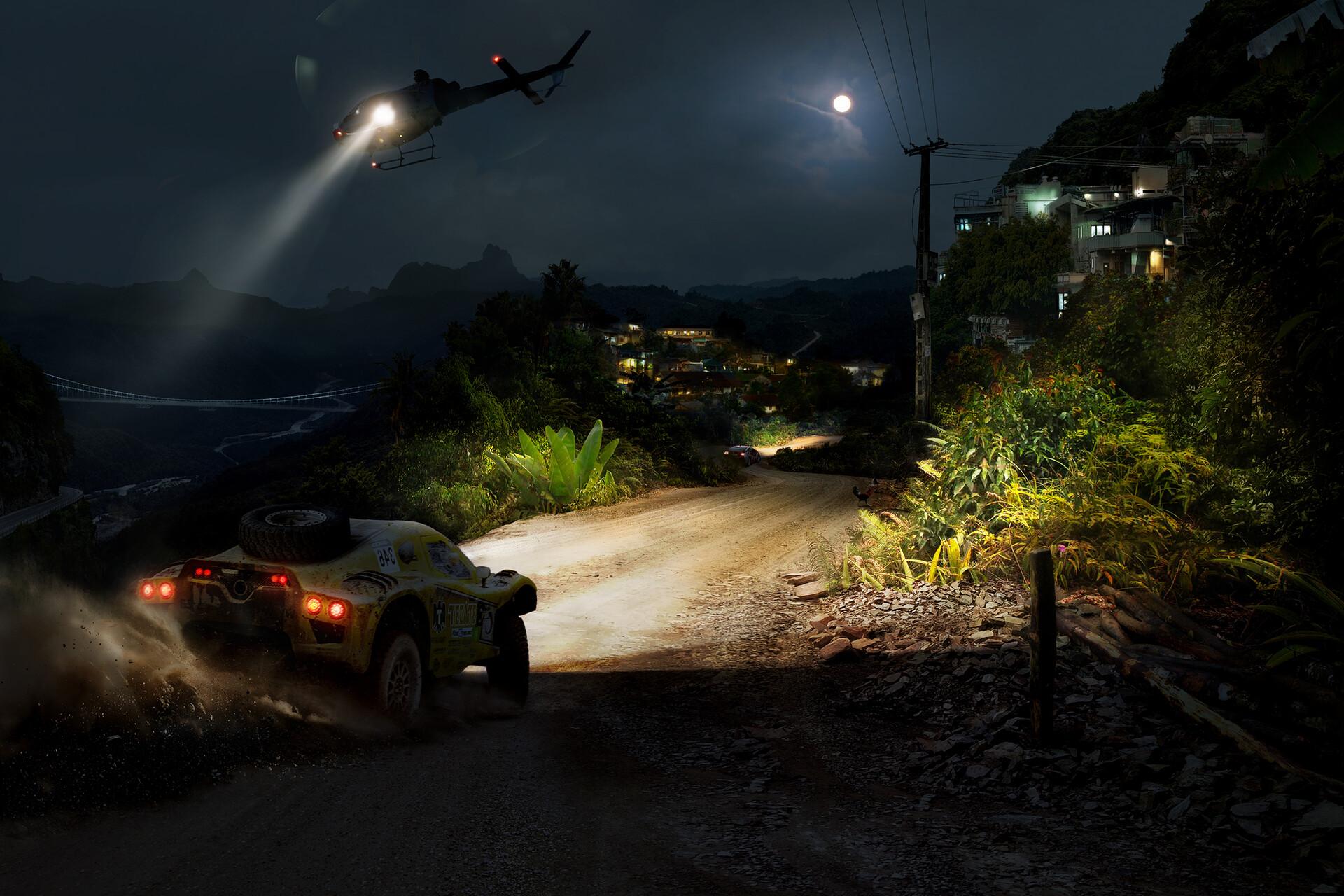 Richard tilbury jungle race nightime