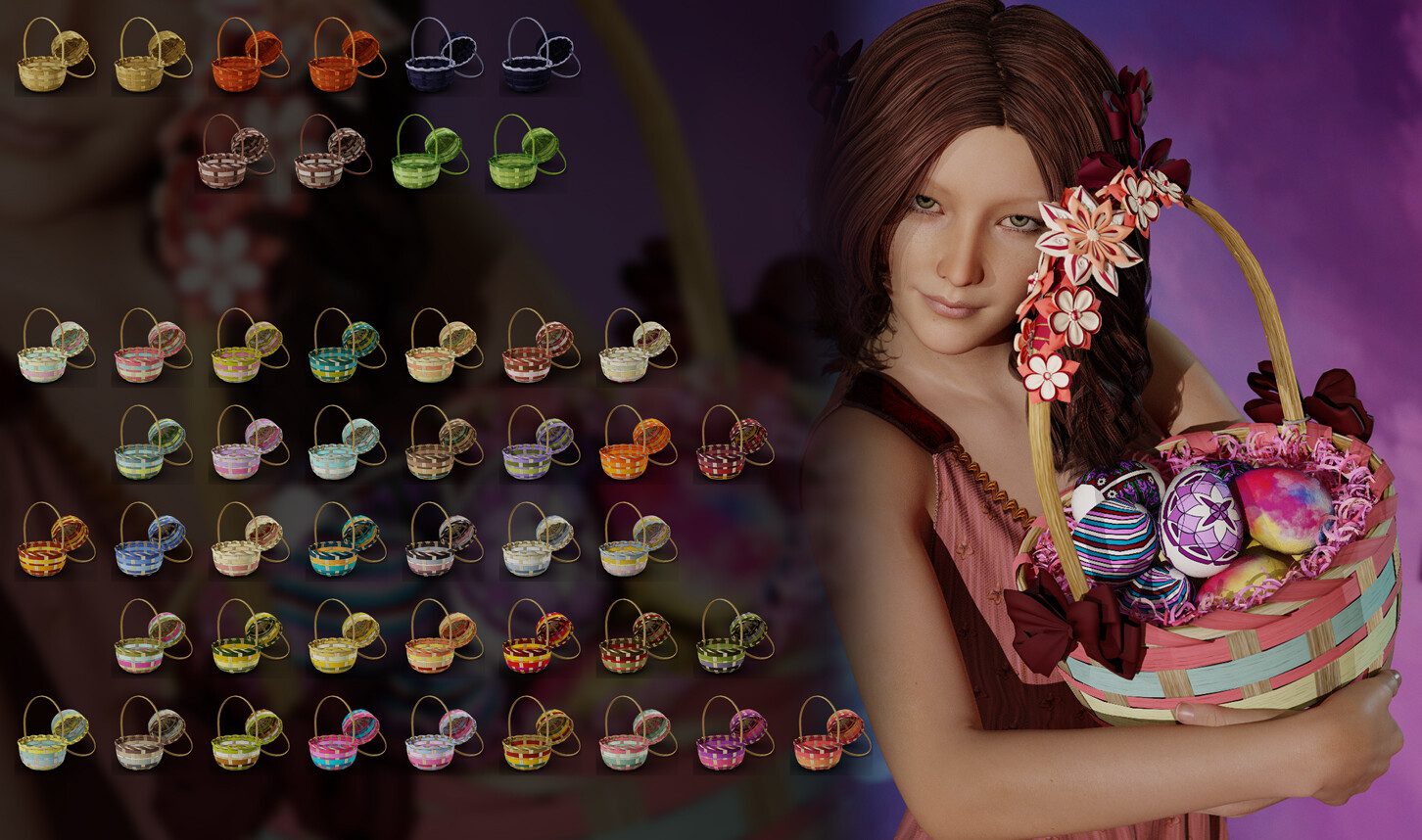 Here are the many colors I made for the baskets themselves.  I spent so much time researching color palettes!!