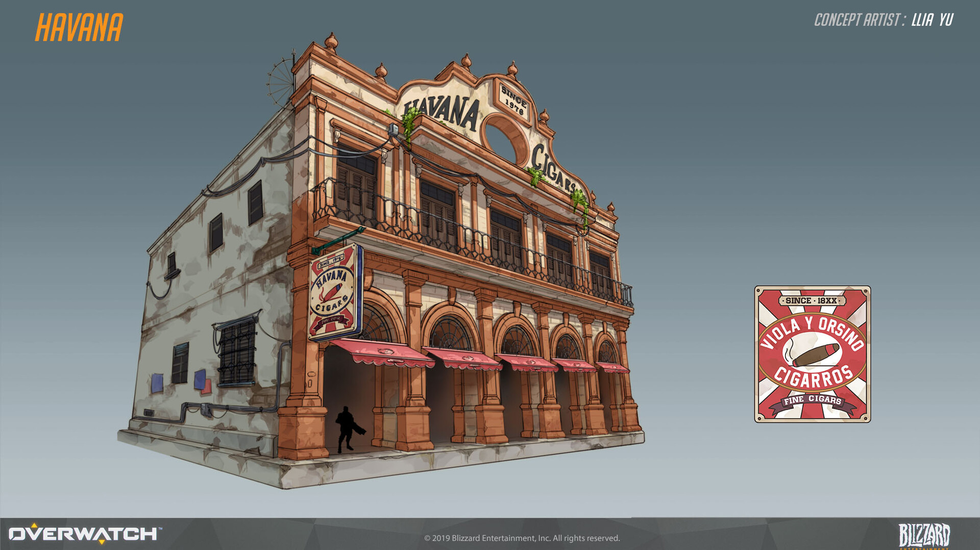 Early concept for Havana map.