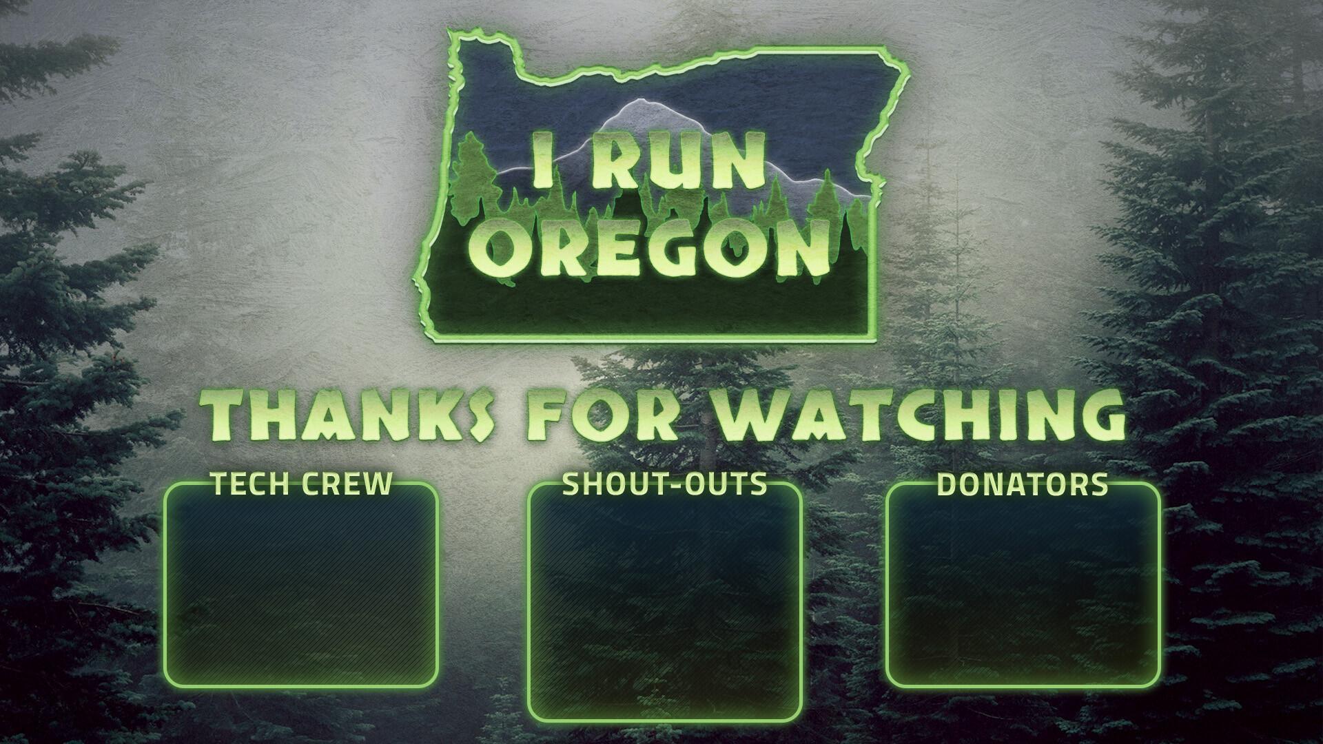 ArtStation - I Run Oregon Stream Overlay and Logo, Jacob