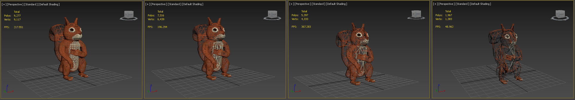Levels of Detail Example (3DSMax)