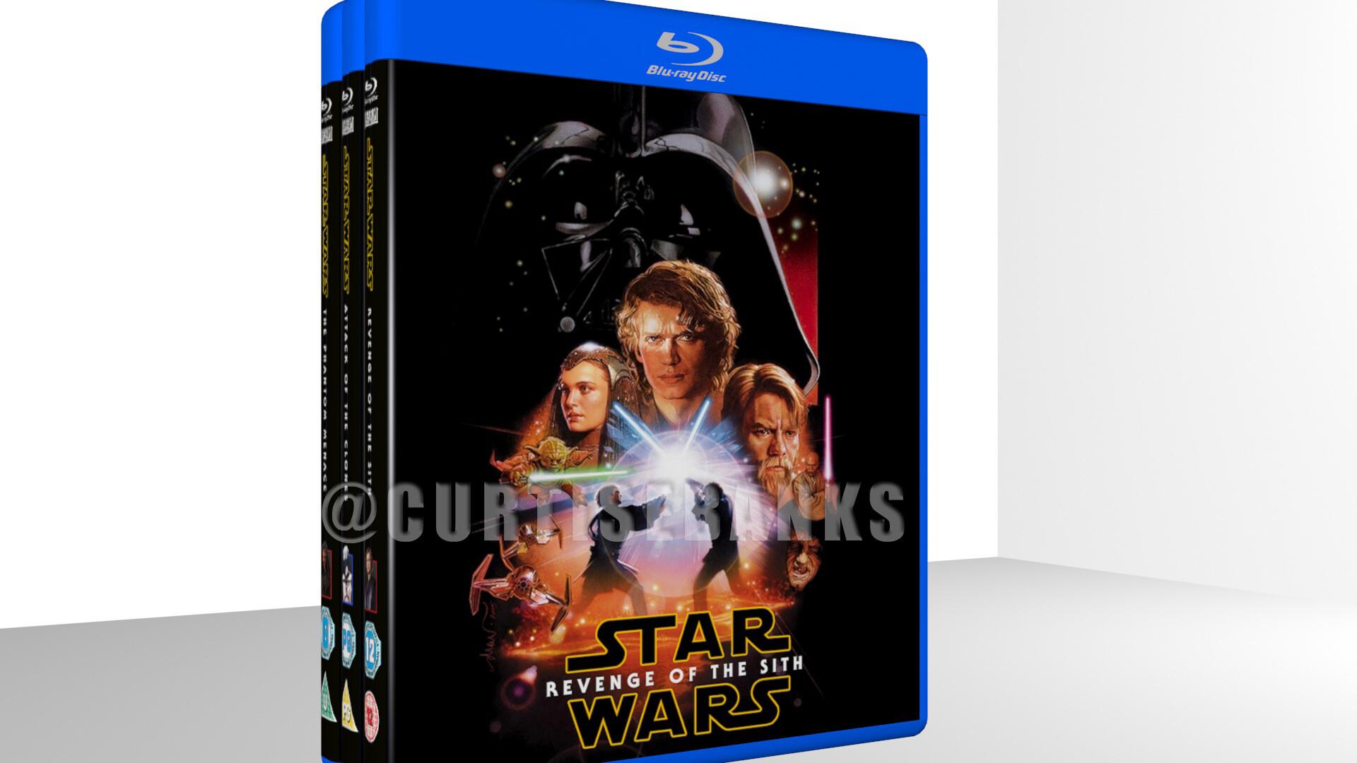 Artstation Star Wars Revenge Of The Sith Custom Blu Ray Cover Curtis Ebanks