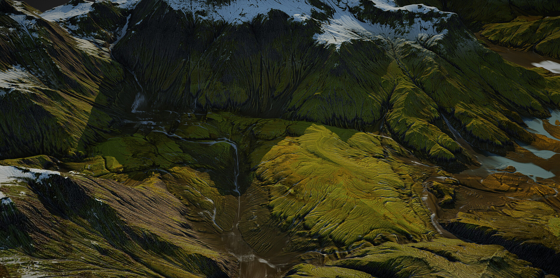 ArtStation - Iceland landscape (World Machine), Sergey Kuydin