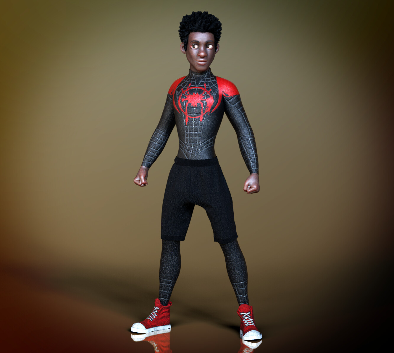 SpiderVerse Fanart - CC3 Adam Base Clothes + Customized ColorIDs (CC Appearance Editor)