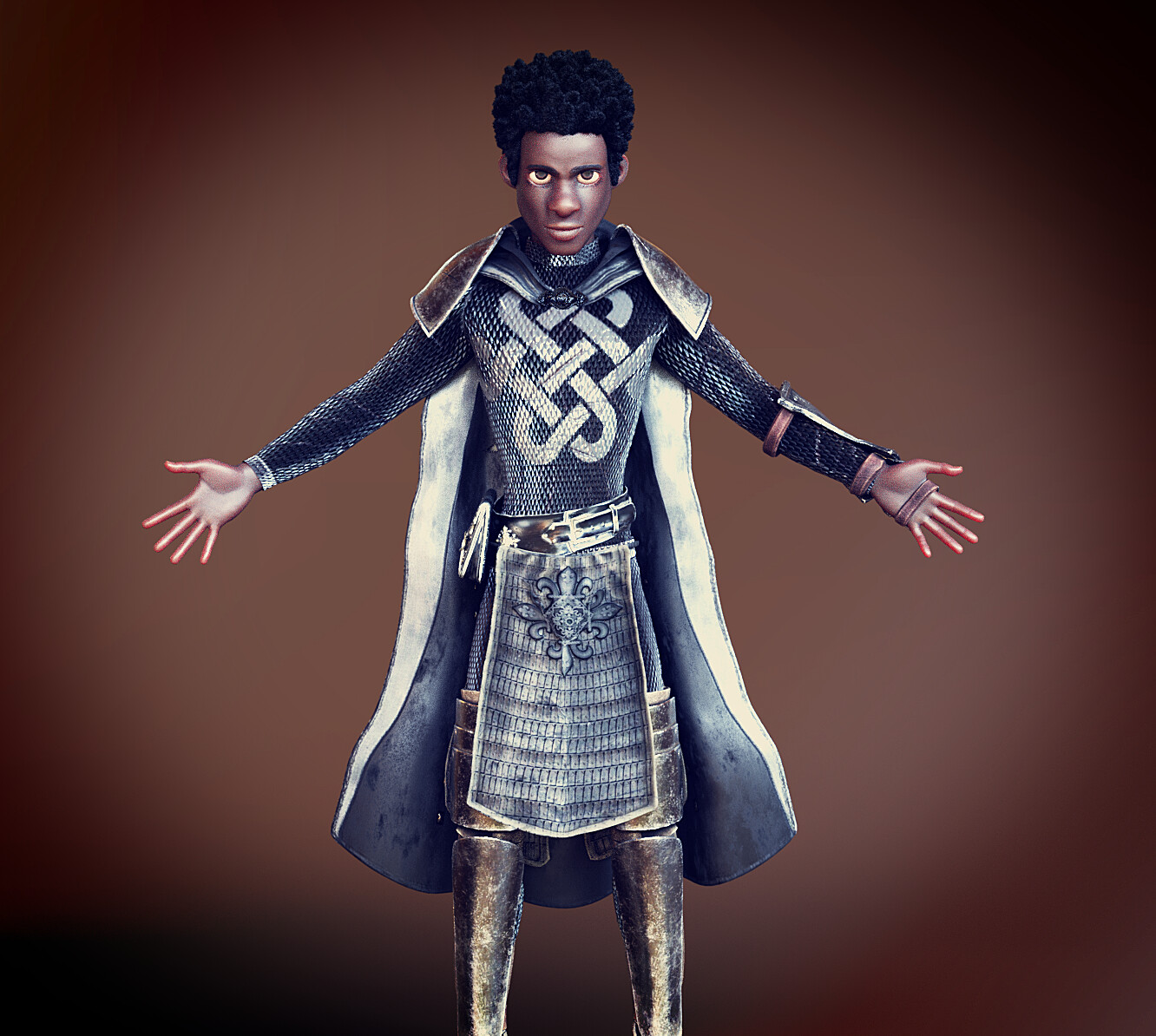 Fantasy Paladin - CC3 Adam Base Clothes + Customized Materials (CC Appearance Editor)