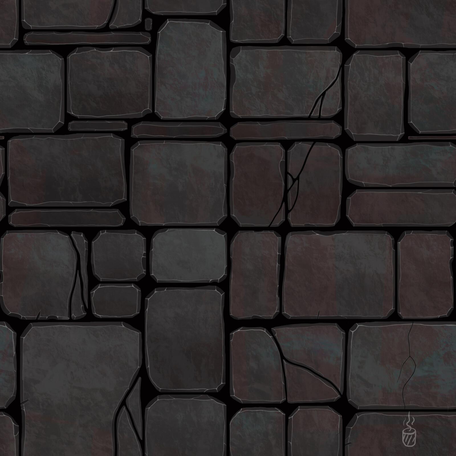 Artstation Block Rock Tile Texture Dima Karpuk