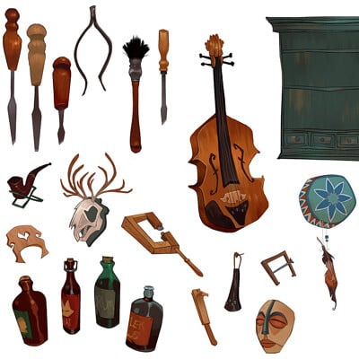 Lindsay towns violinshop props
