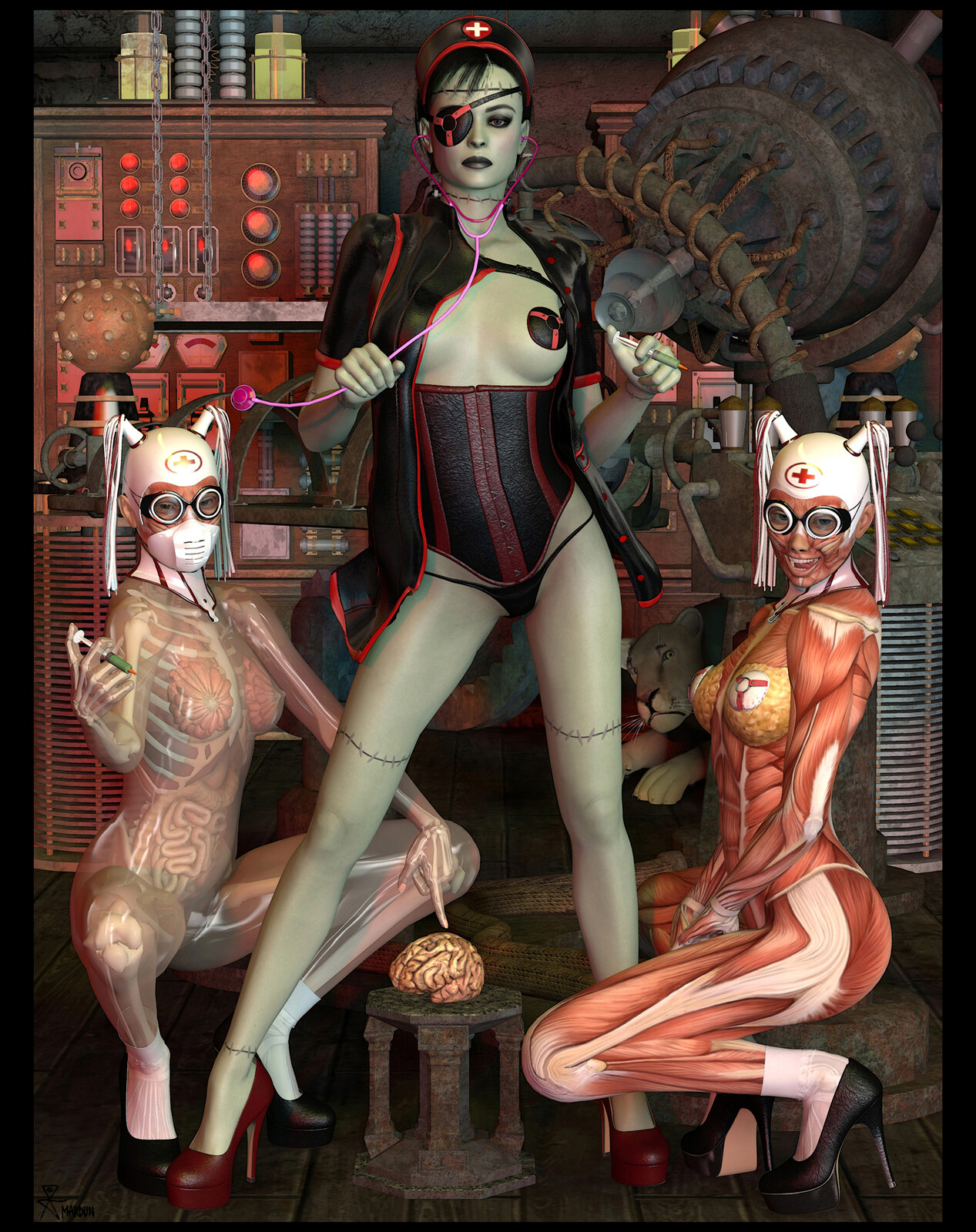 Frankenhooker Night-Nurse of psychic surgery, who is animated into Tulpa life by electrifying desire.