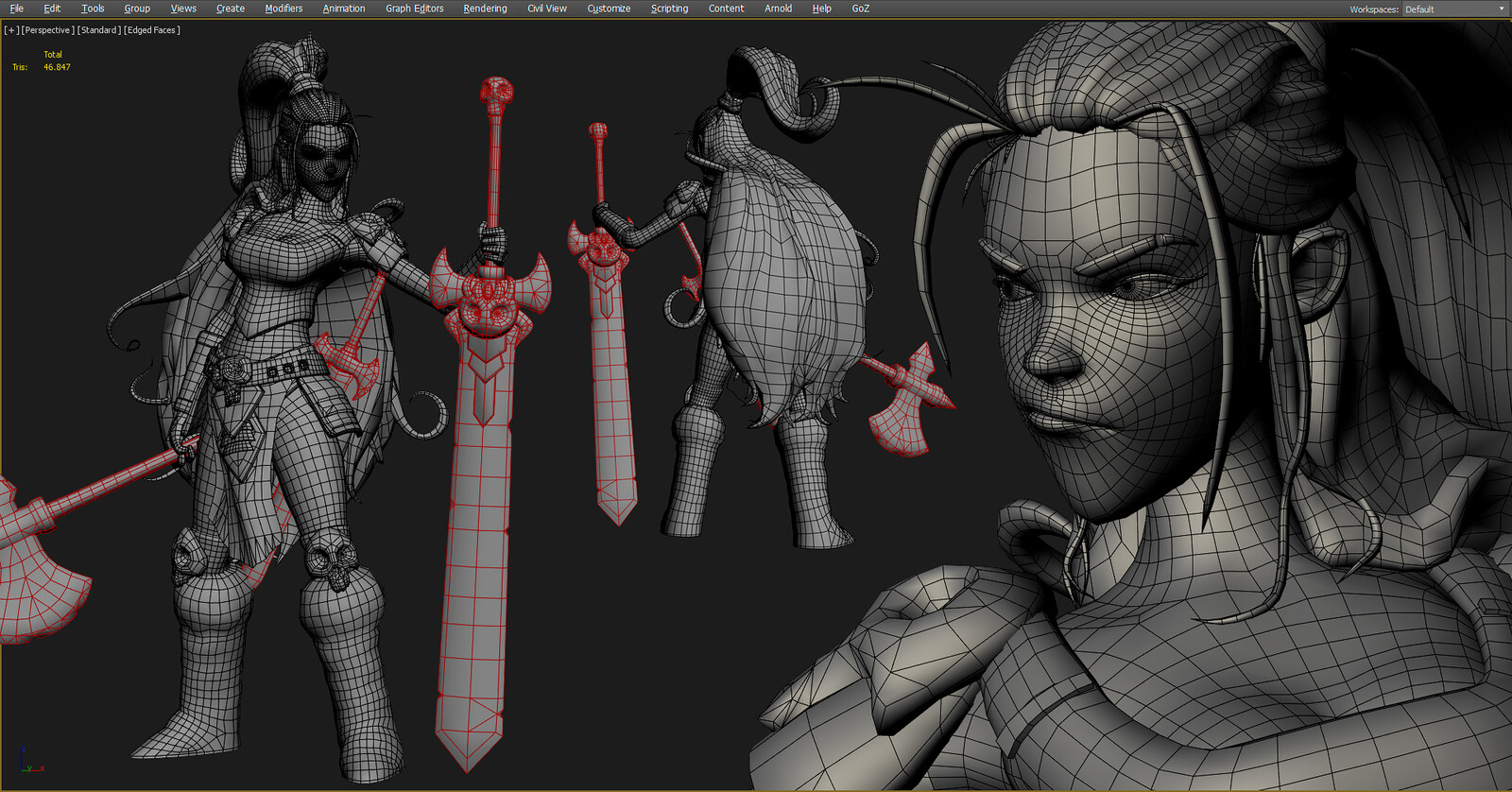 3DS Max topology