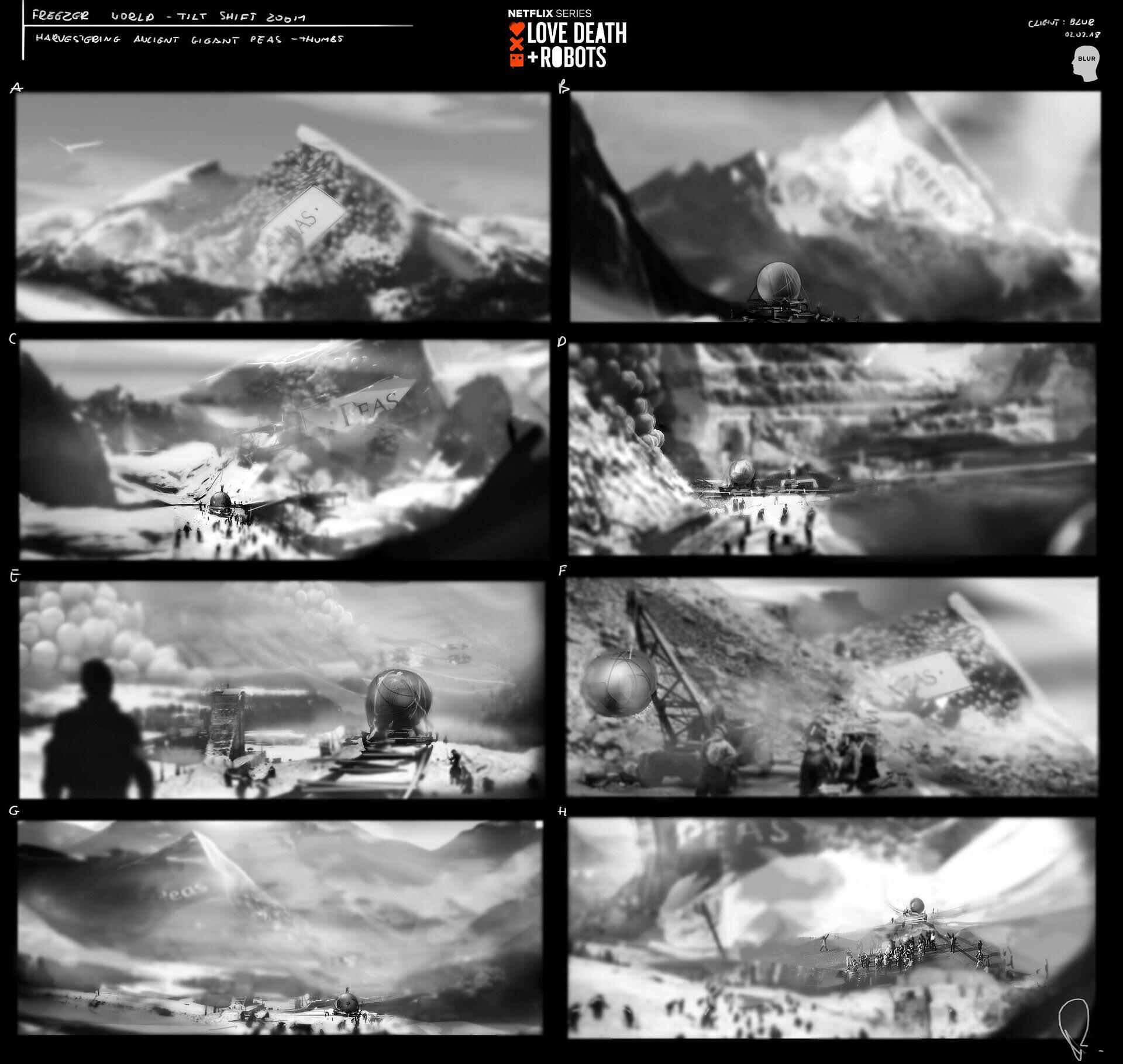 mountain peals extraction thumbnails set