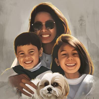 Rye adriano family portrait