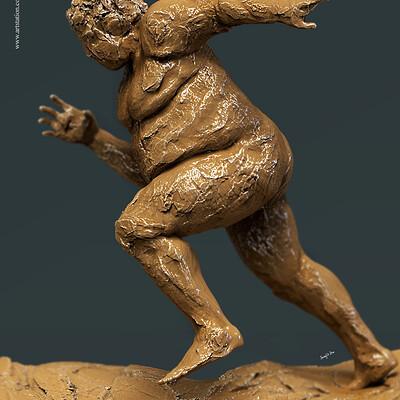 Surajit sen running digital sculpture surajitsen april2019