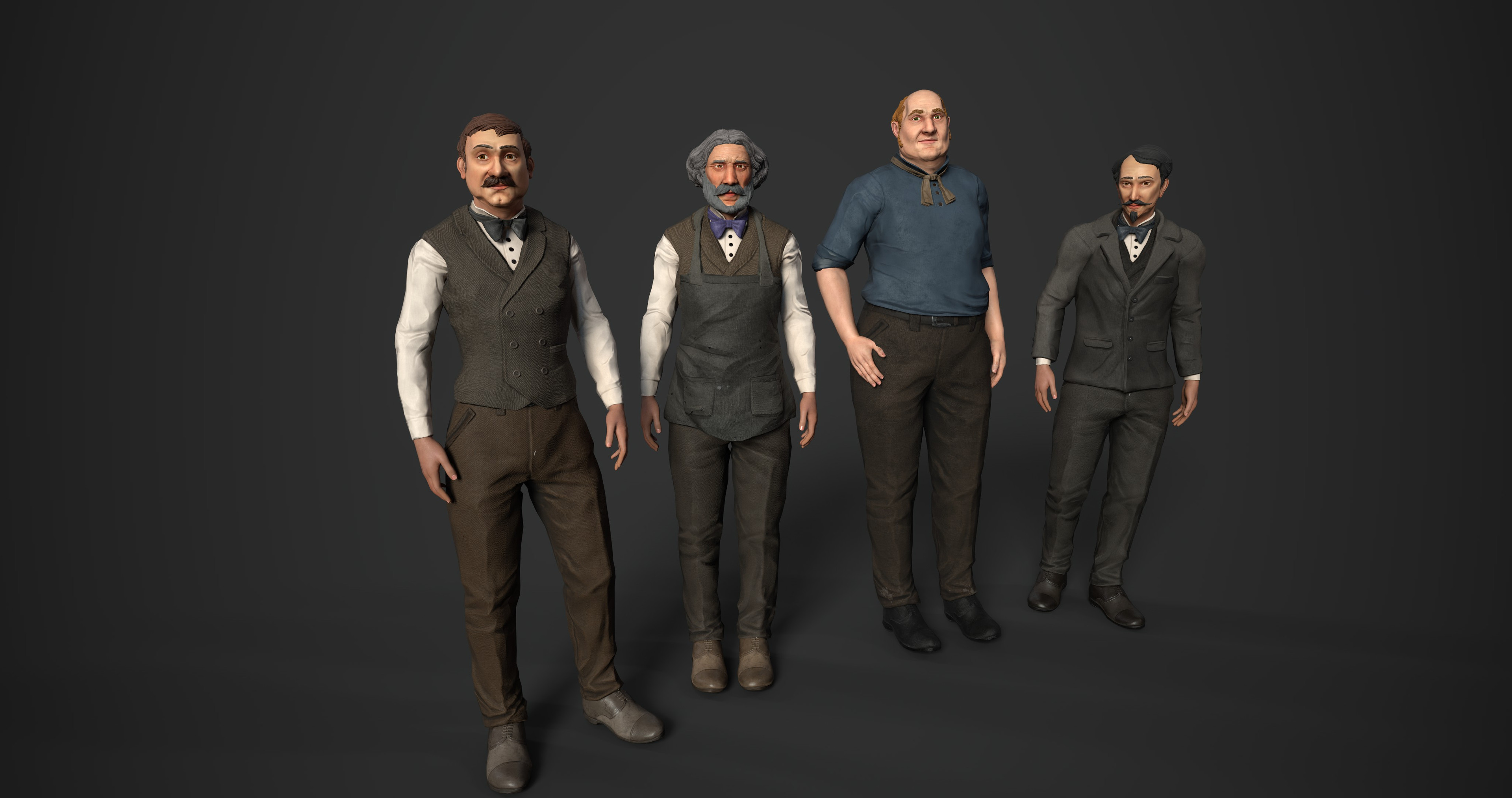 Historical characters and workers