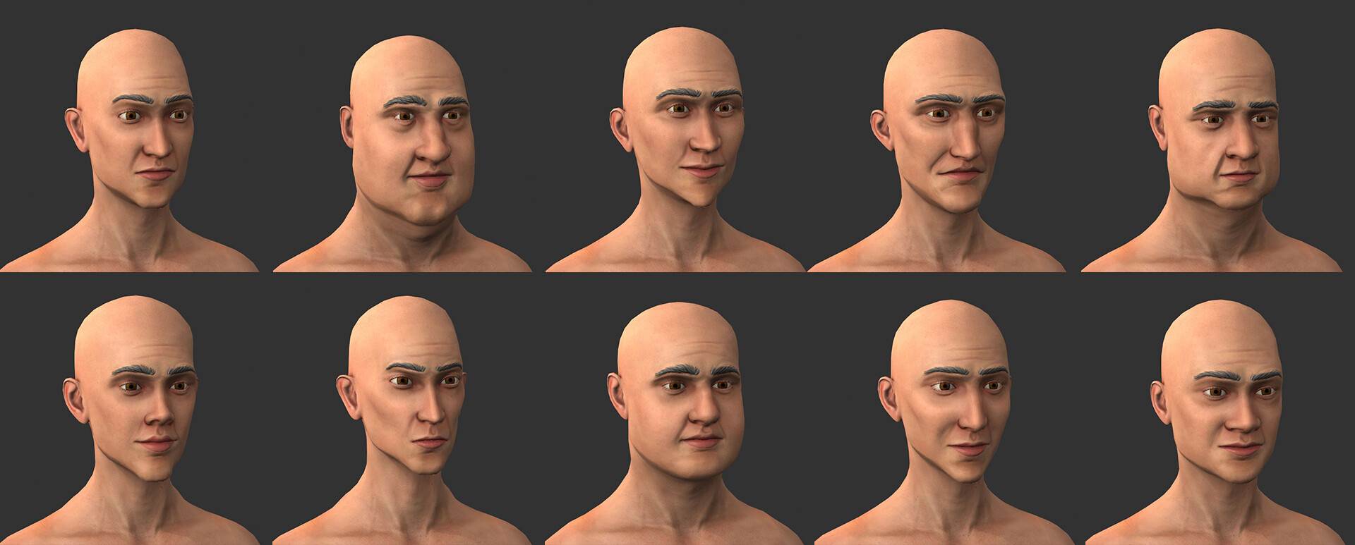 Man Head Variations