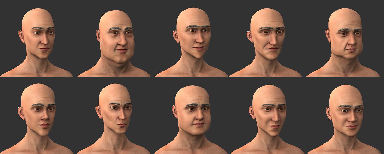 Man Head Variations