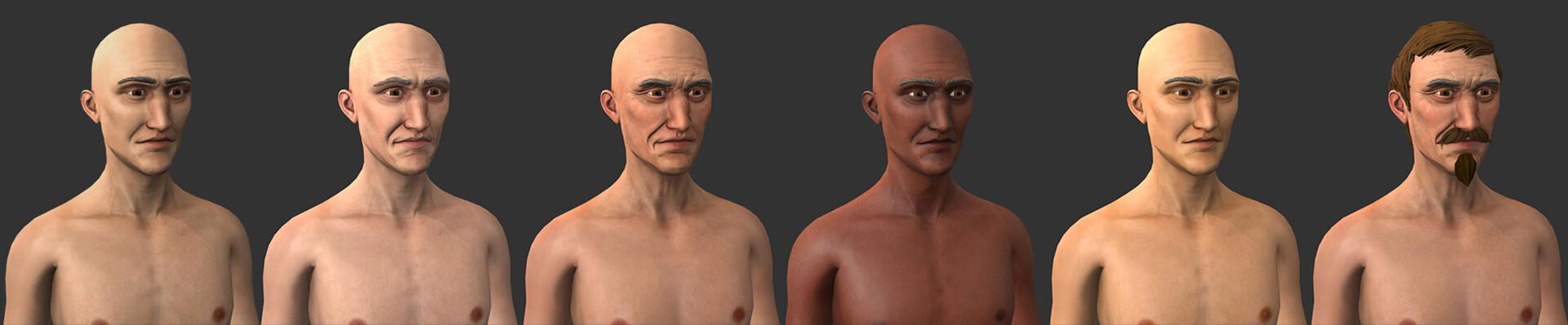 Man skin Variations