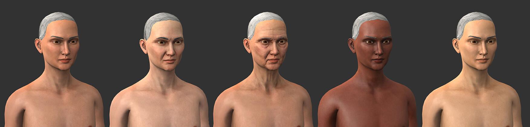 Woman skin Variations
