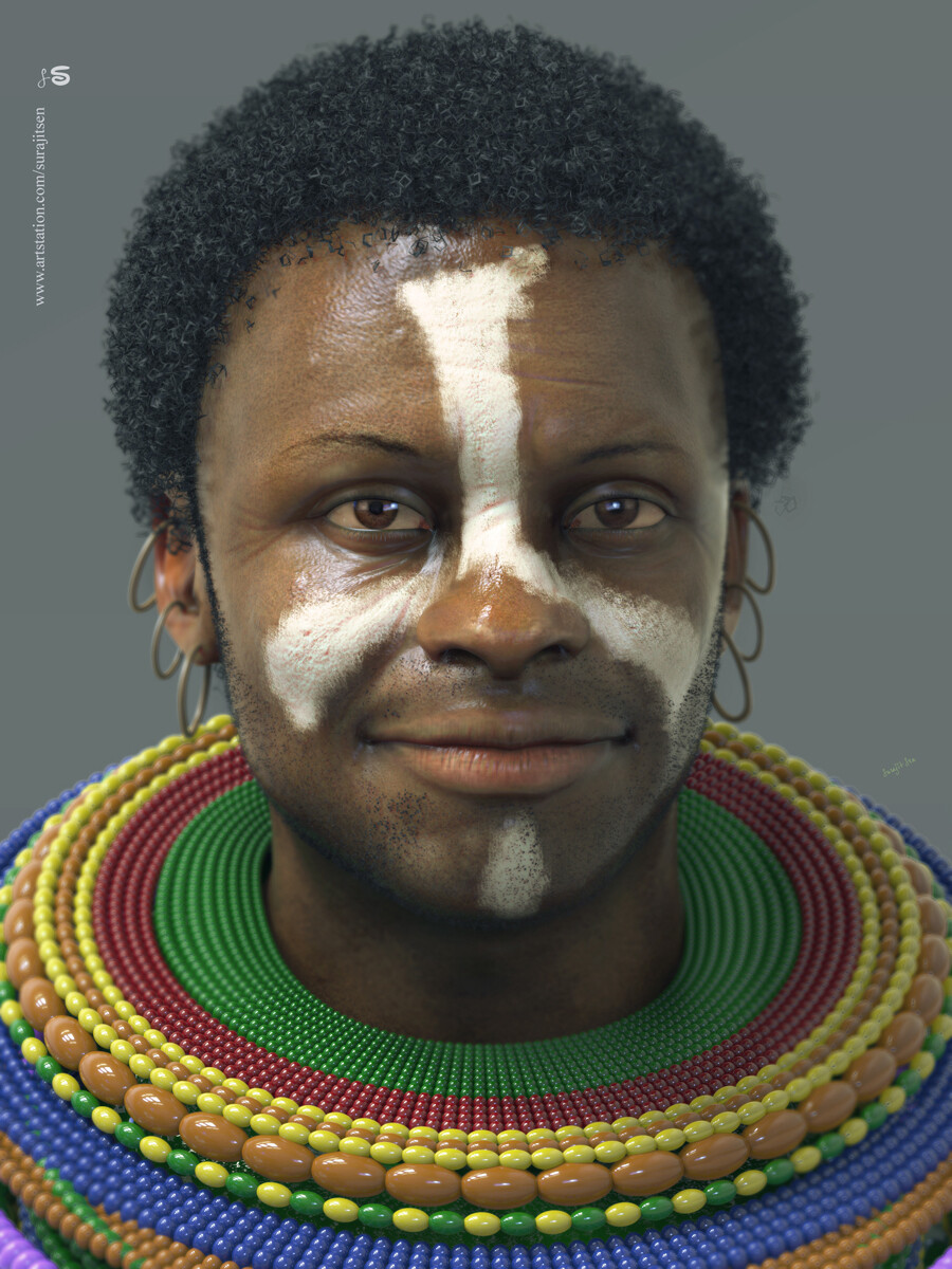 "One of my free time Study works. ... ""AKWAS"" - African Tribal CG Character.
