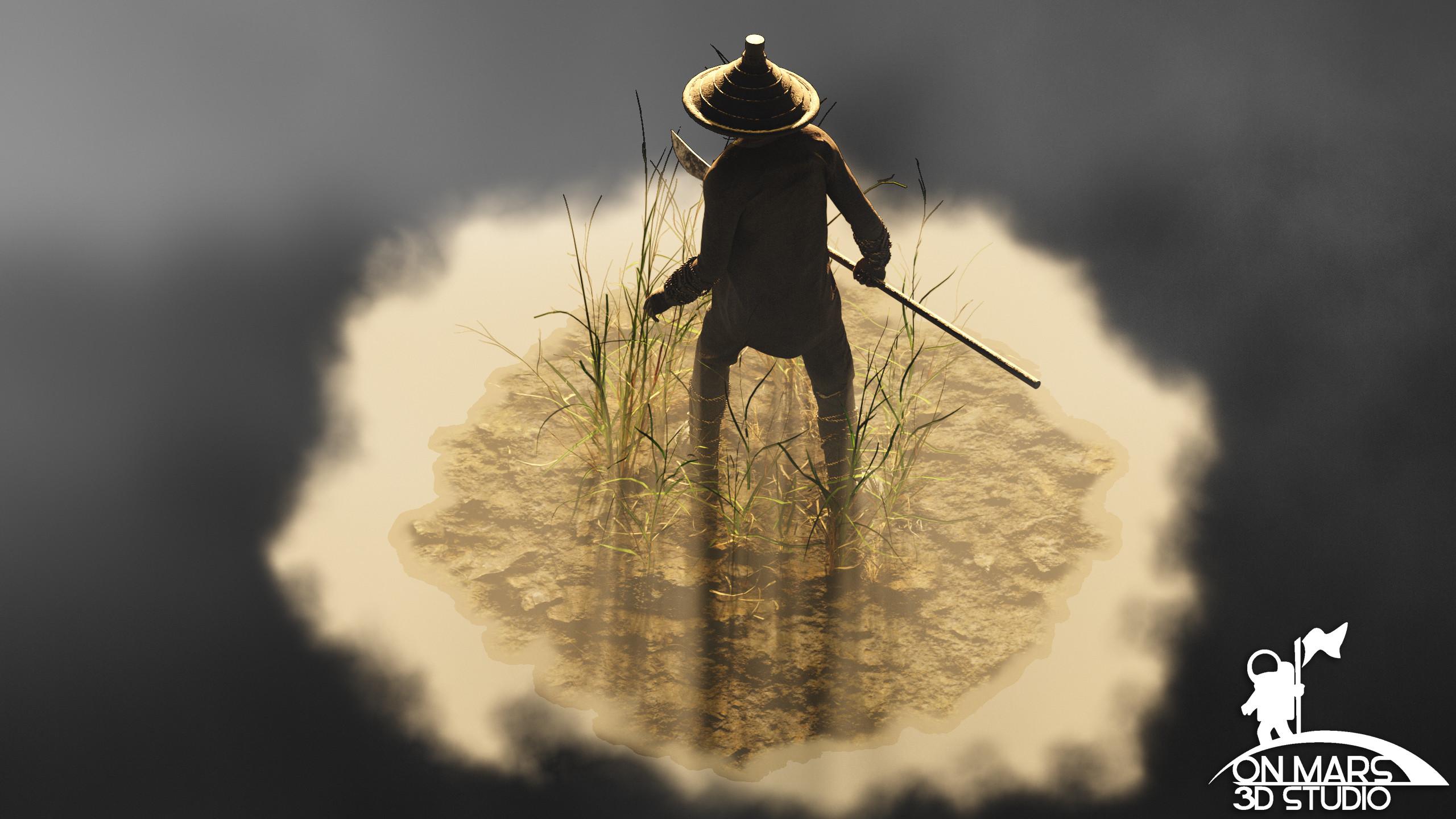 Rice Farmer Concept  View 4