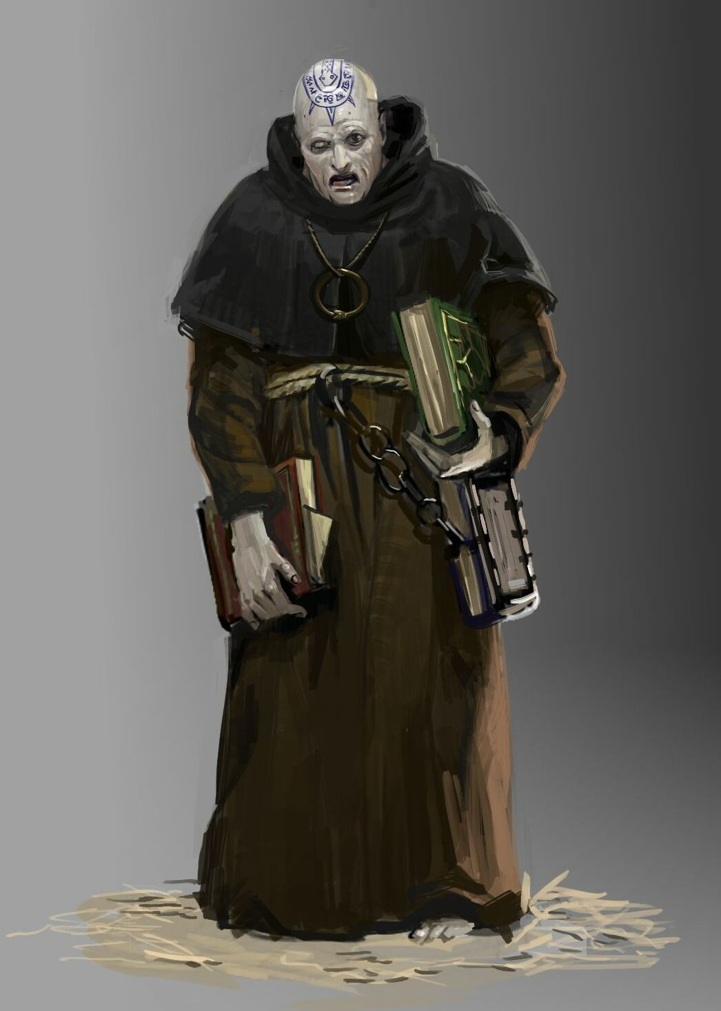 Crazy cultist monk.