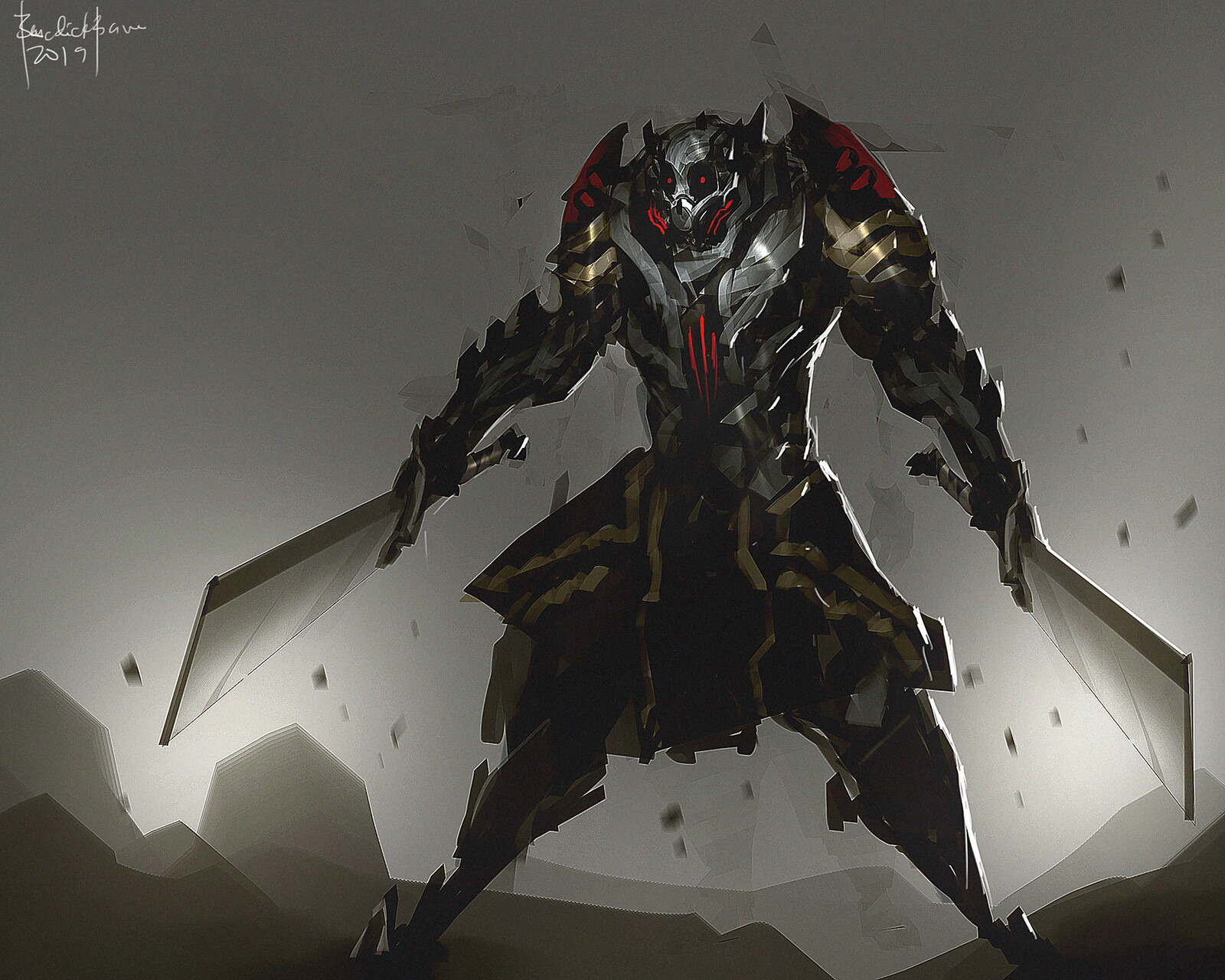 concept art. maniacal and ruthless slayer.