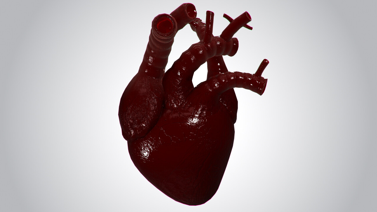 Alex Volkov - Heart Covered In Blood Rigged Animated PBR Low
