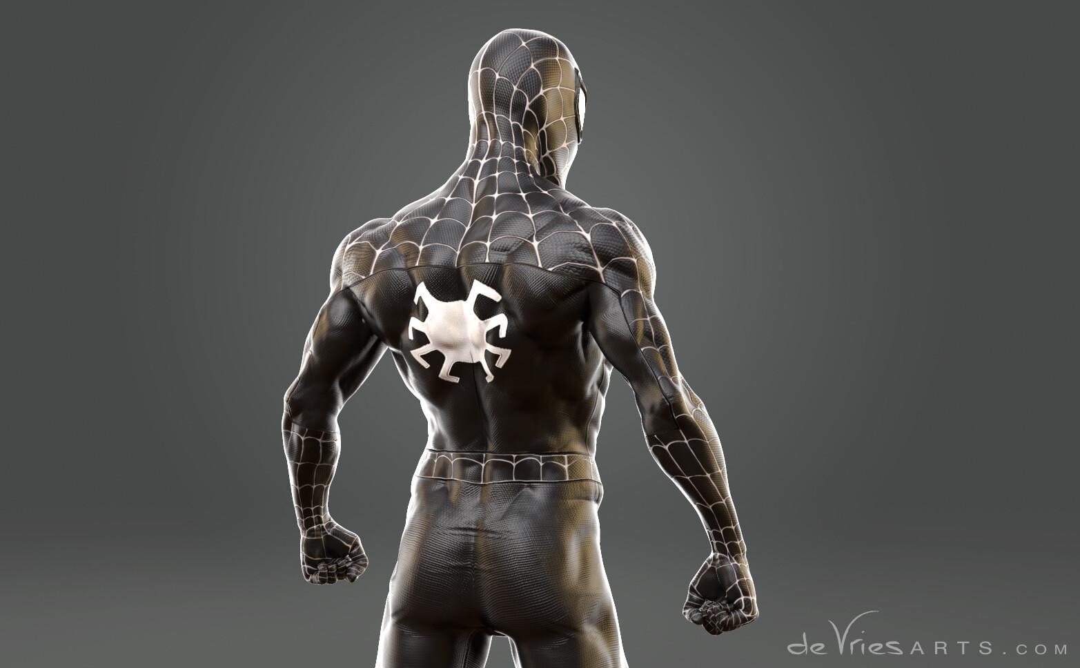 Thijs de vries closebw2 spiderman thijsdevries devriesarts
