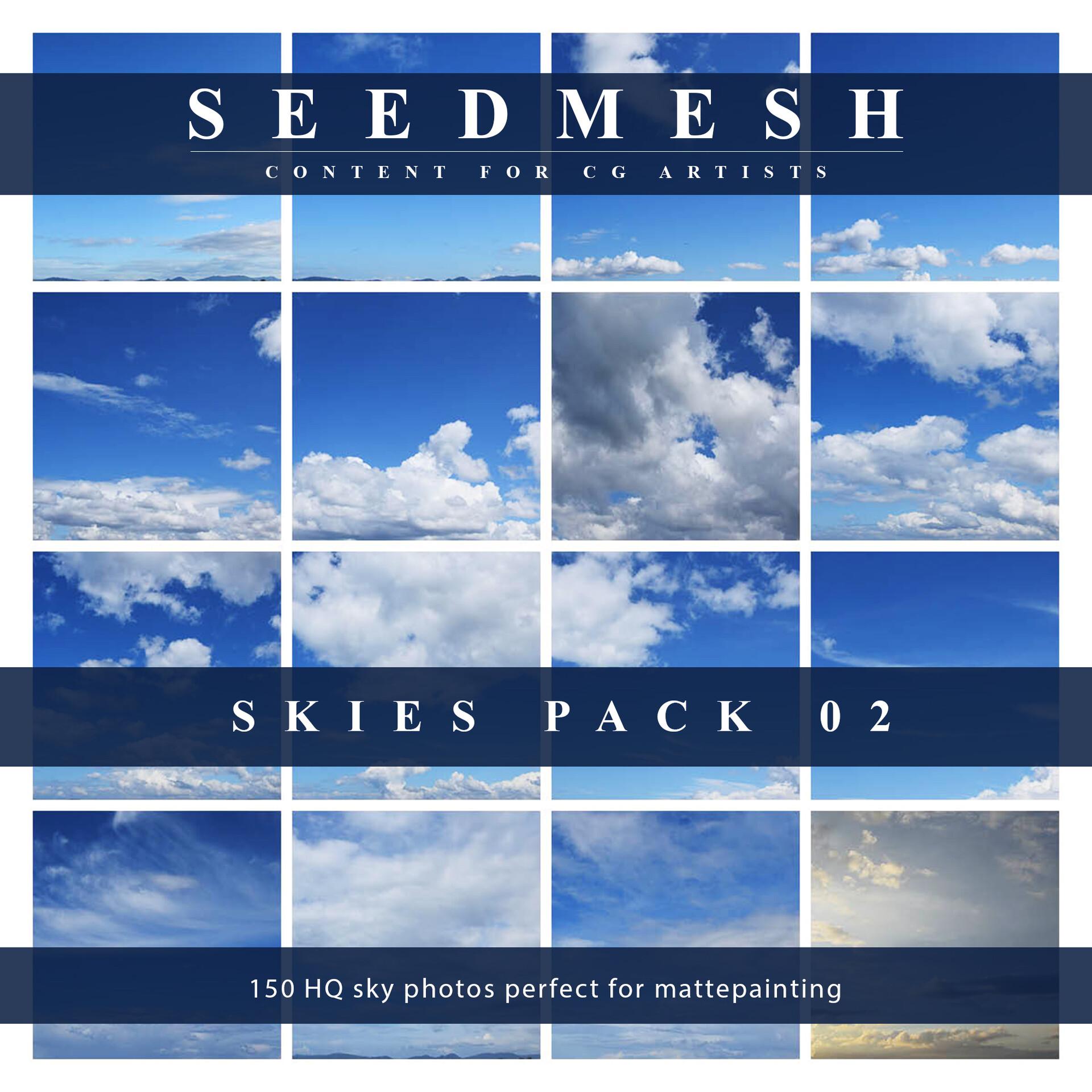 ArtStation   SKIES PACK 12. 12 HQ sky photos, Seedmesh Resources