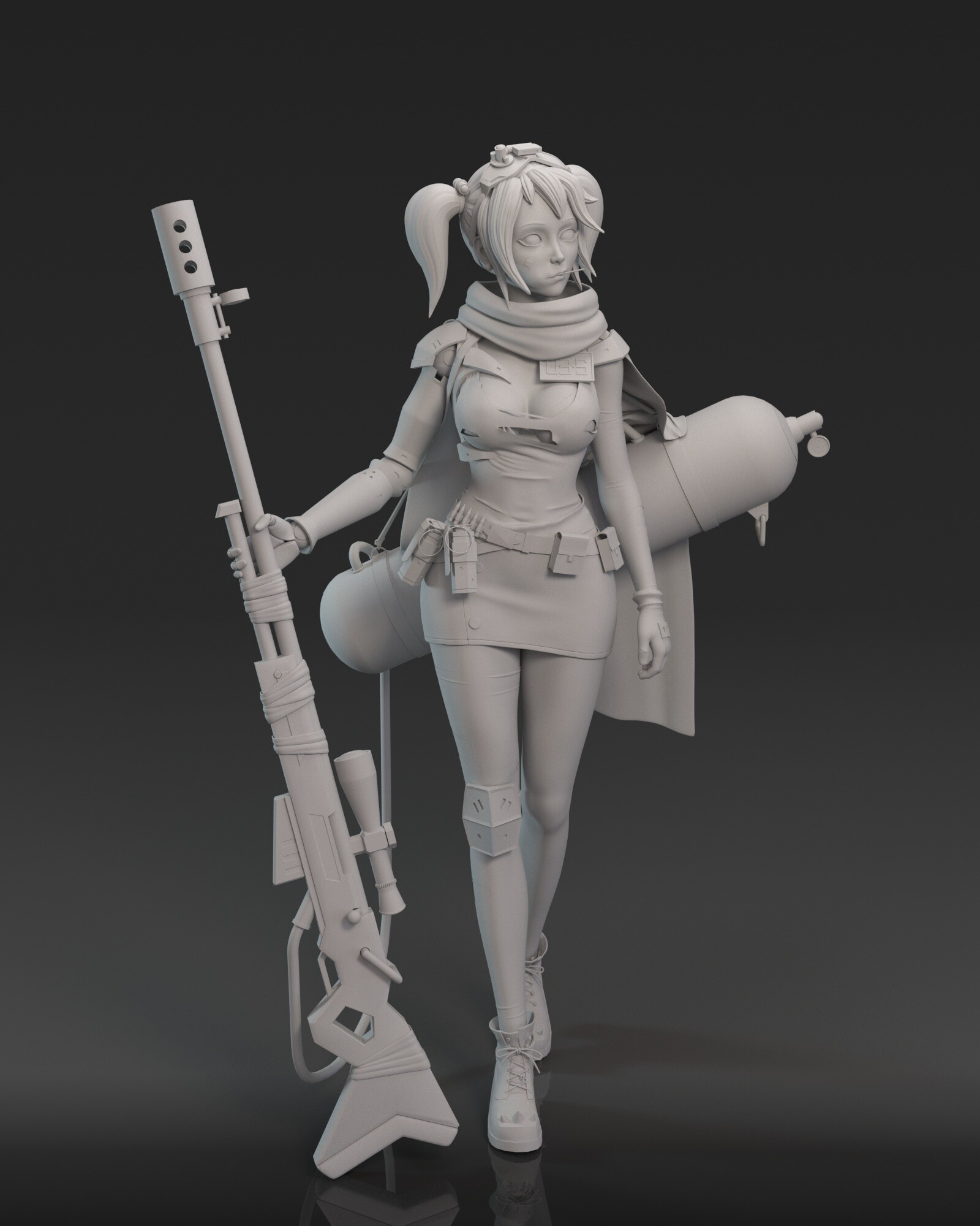 Cgmonkeyking punk girl clay